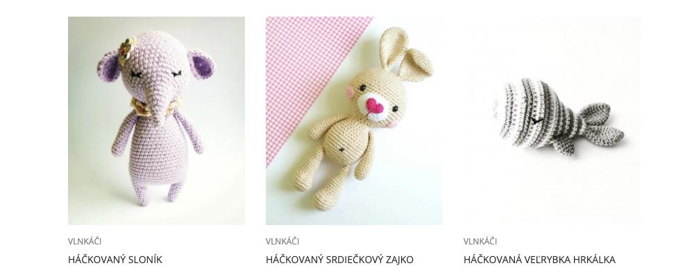 Obchodík VLNKÁČI (háčkované hračky) na ROBENE.SK